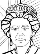Queen Elizabeth by Romero Britto Coloring Page