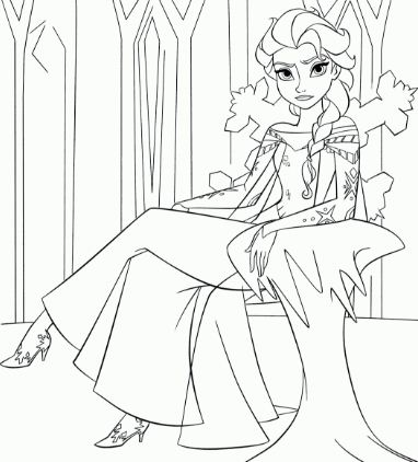 Queen Elsa Of Arendelle Coloring Page