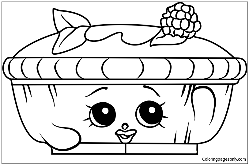 Queen Of Tarts Shopkins Coloring Page