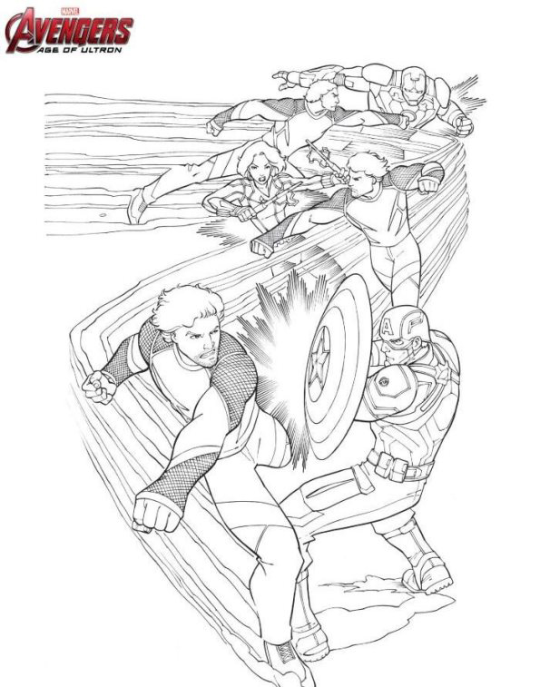 Quicksilver from Avengers Coloring Page