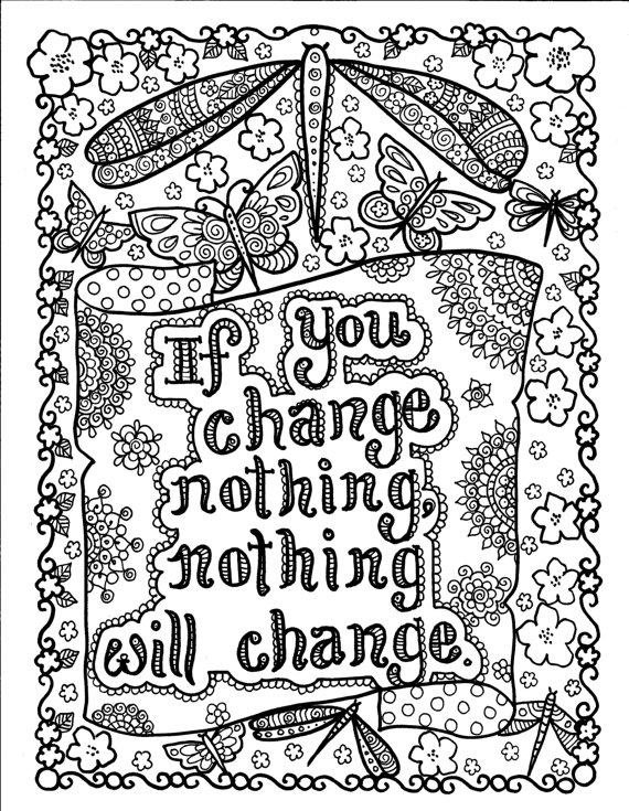 Quote Inspiring Coloring Page