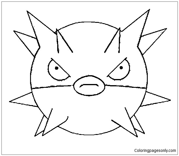 Qwilfish Pokemon Coloring Page