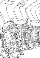 R2 Droids From Star Wars Coloring Page