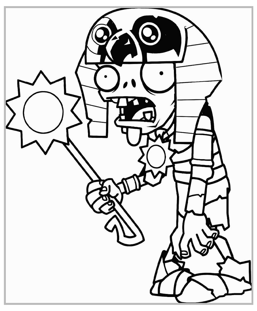 Ra Zombie Coloring Page