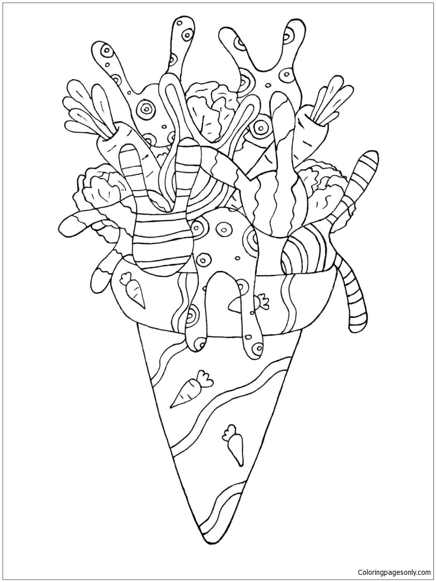rabbit ice cream coloring page - Ice Cream Coloring Page