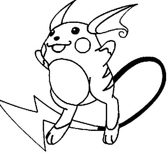Raichu Pokemon Coloring Page