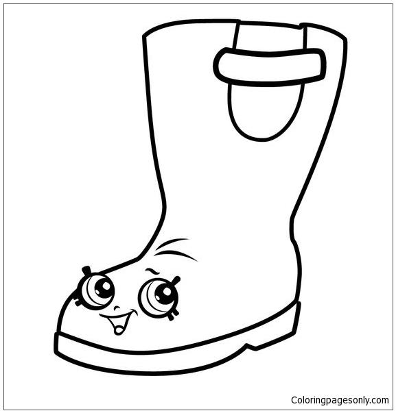 Rain Boots Jennifer Rayne Shopkins Coloring Page