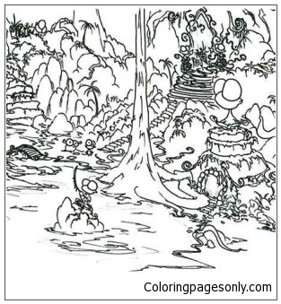 Rain Forest Coloring Page