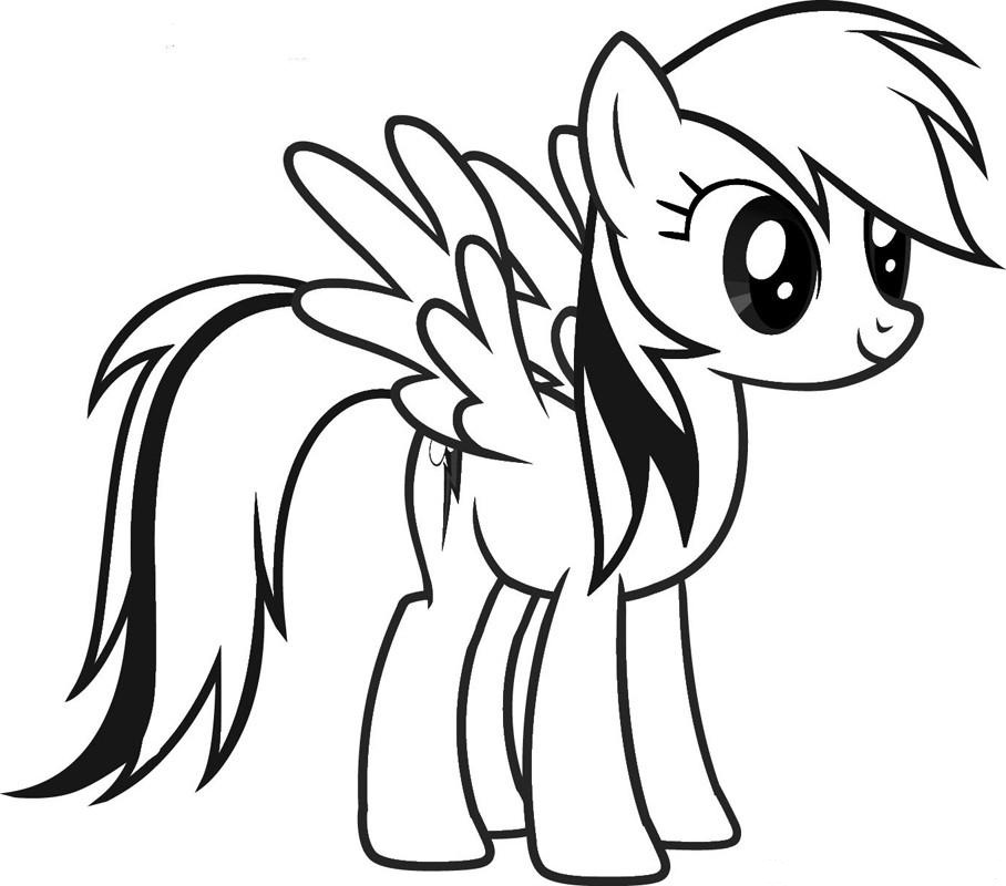 Rainbow Dash Cute Coloring Page