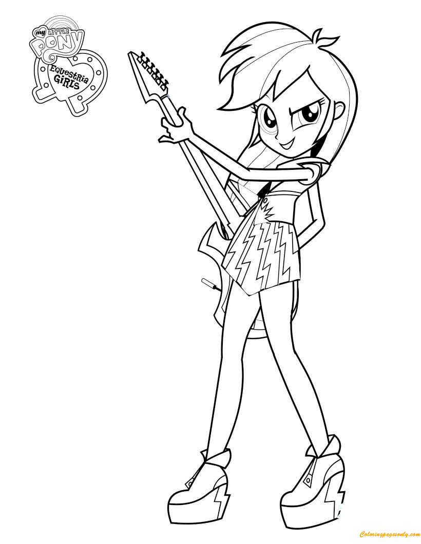 - Rainbow Dash Equestria Girl Coloring Page - Free Coloring Pages Online