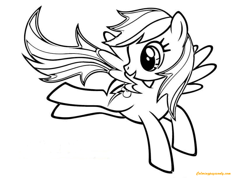 My Little Pony Rainbow Dash Flying Coloring Pages - Bltidm