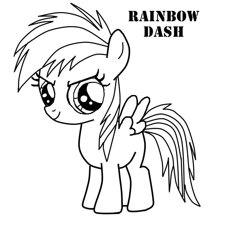 Rainbow Dash Very Cute