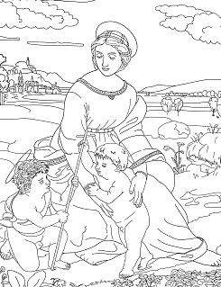 Raphael Madonna of the Meadow Coloring Page