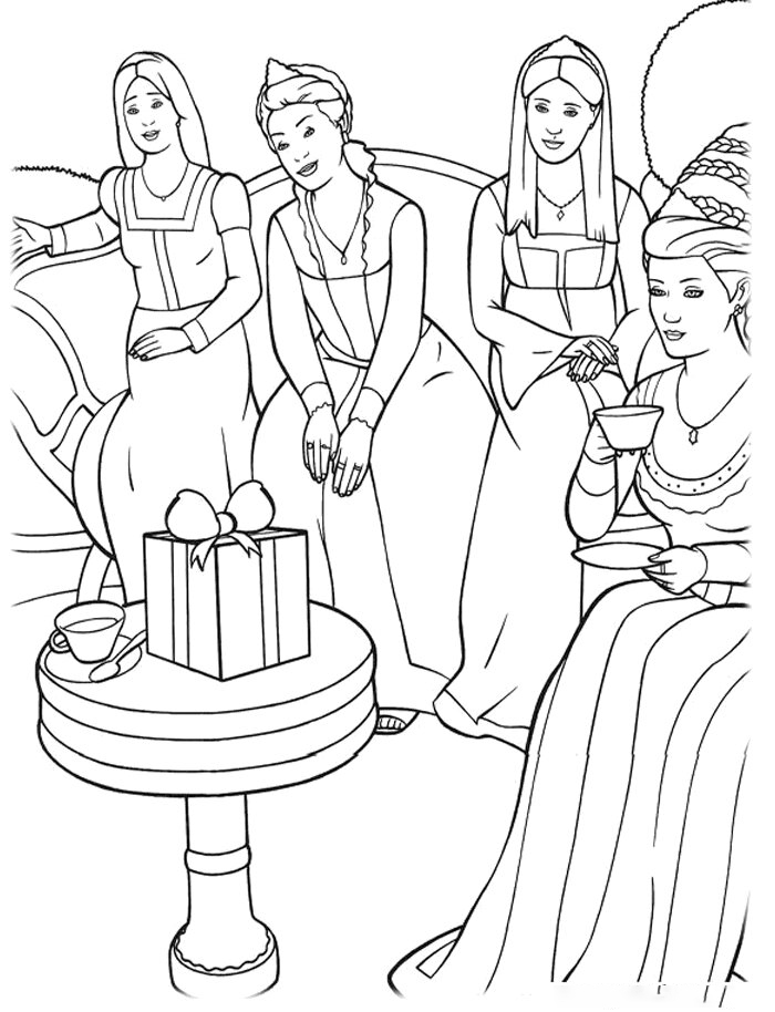 Rapunzel and three sisters