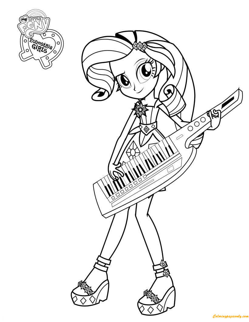 Rarity From My Little Pony Coloring Pages