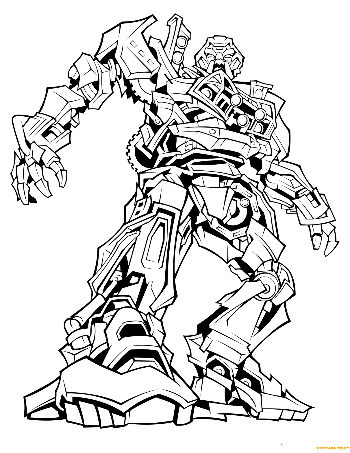 Ratchet from Transformers Coloring Page - Free Coloring ...
