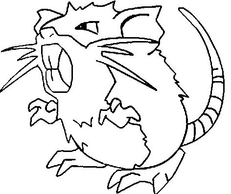 Raticate Coloring Page