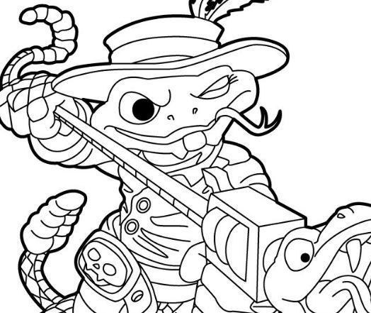 rattle shack - Skylander Coloring Pages Tree Rex
