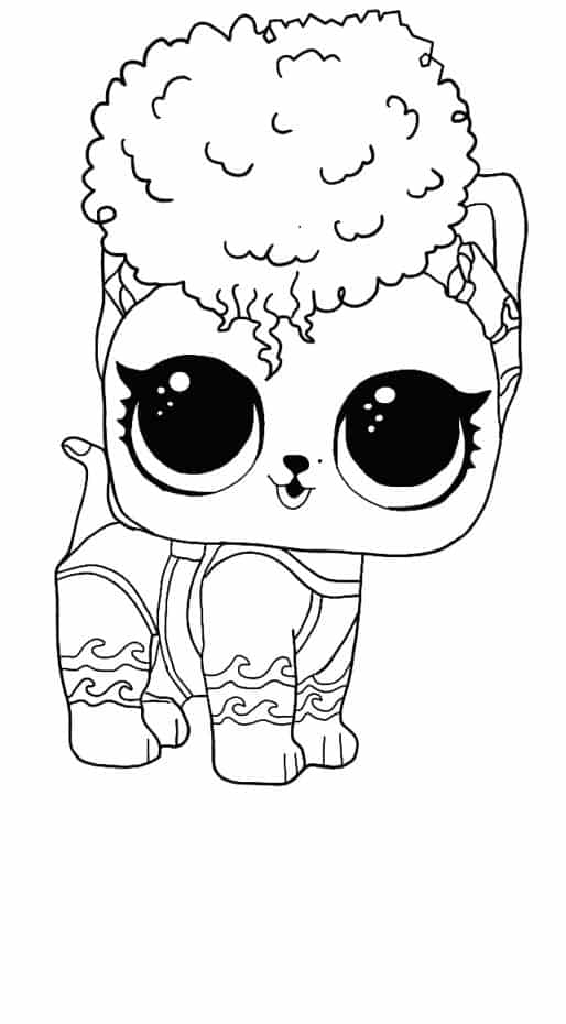 Lol Suprise Doll Rawr Coloring Page