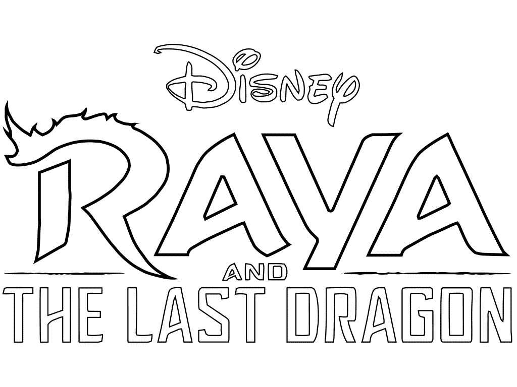 Raya and the Last Dragon Logo Coloring Page