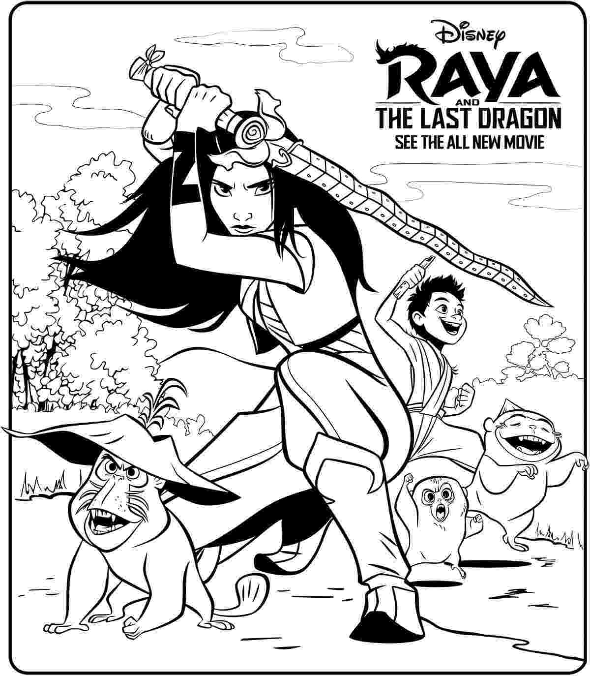 Raya and the Last Dragon Poster Coloring Page
