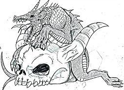 Real Dragon Coloring Page