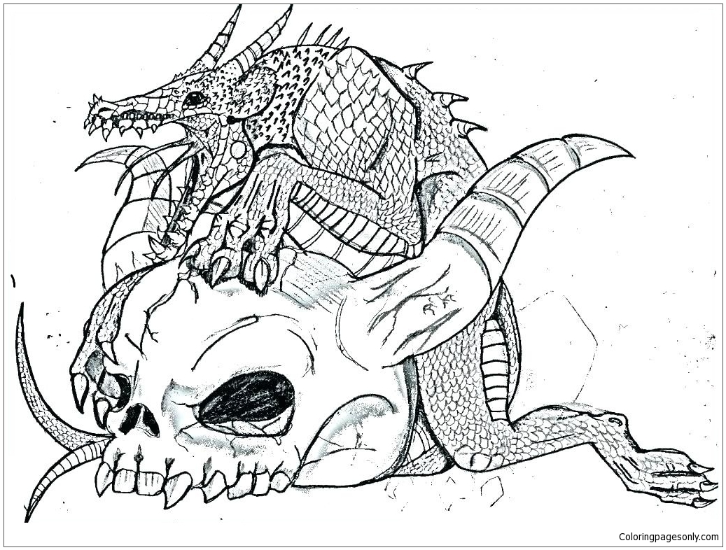 Real Dragon Coloring Page Free Coloring Pages Online