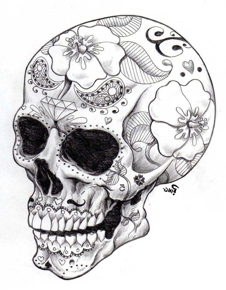 Real Sugar Skull Precision Coloring Page