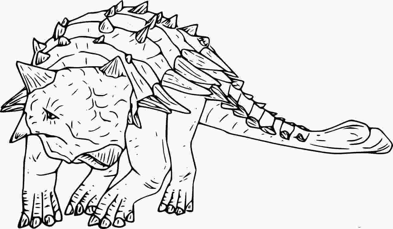 Realistic Ankylosaurus Coloring Page