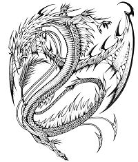Realistic Dragon 1 Coloring Page