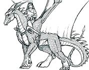 Realistic Dragon 2 Coloring Page