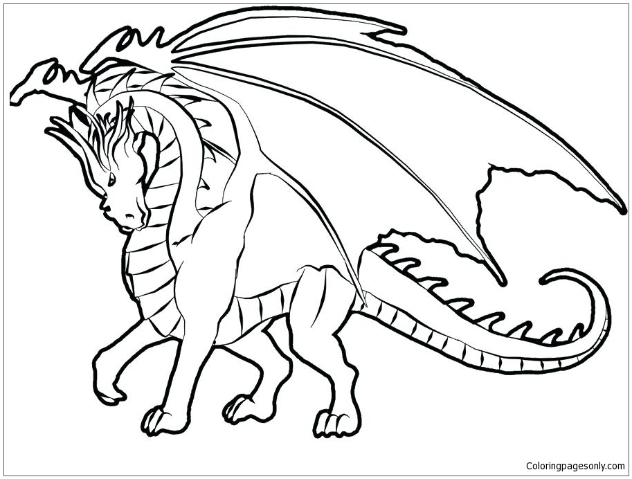 Realistic Dragons Coloring Pages - Dragon Coloring Pages - Coloring Pages  For Kids And Adults