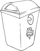 Recycling Bin Coloring Page