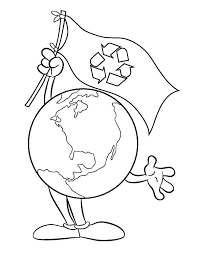 Recycling On Earth Day Coloring Page