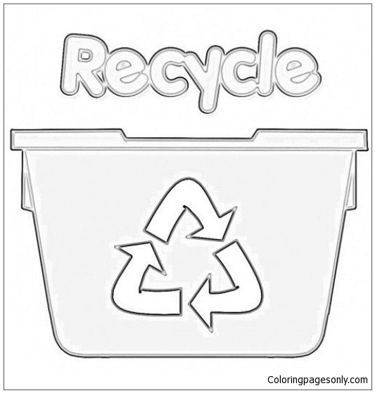 Earth Day Recycling Coloring Page | crayola.com | 559x533