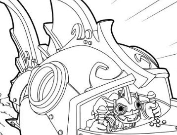 Reef Ripper Submarine Coloring Page