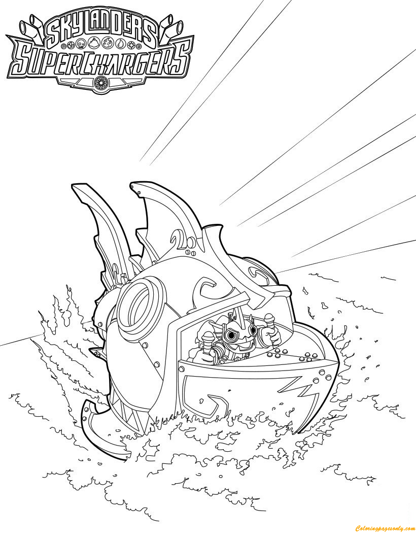 Reef Ripper Submarine Coloring Page Free Coloring Pages Online Submarine Coloring Pages