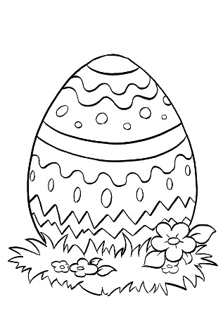 Religious Themed Easter Egg Coloring Page