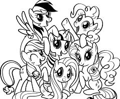 Remarkable My Little Pony Coloring Page