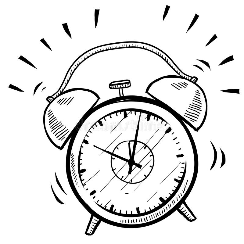 Retro Alarm Clock Coloring Page
