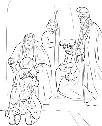 Return of the Prodigal Son by Rembrandt Coloring Page