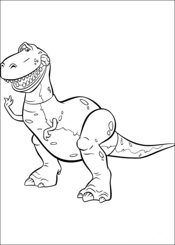 Rex is standing Coloring Page
