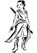 Rey from Star Wars Coloring Page