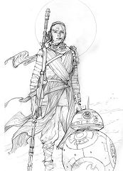 Rey Star Wars 1 Coloring Page