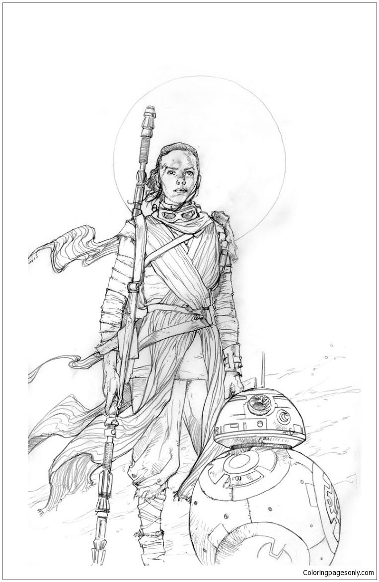 Rey Star Wars 1 Coloring Page Free Coloring Pages Line