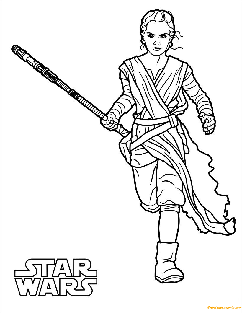 Rey Coloring Page Free Coloring Pages Online