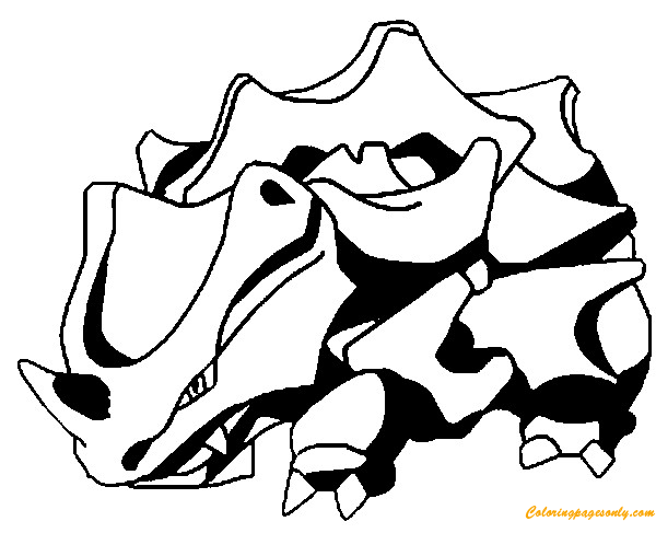 Rhyhorn Pokemon Coloring Page Free Coloring Pages Online