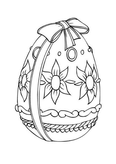 Ribbon Wrapped Easter Egg