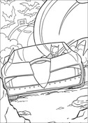 Batmobile from Batman Coloring Page