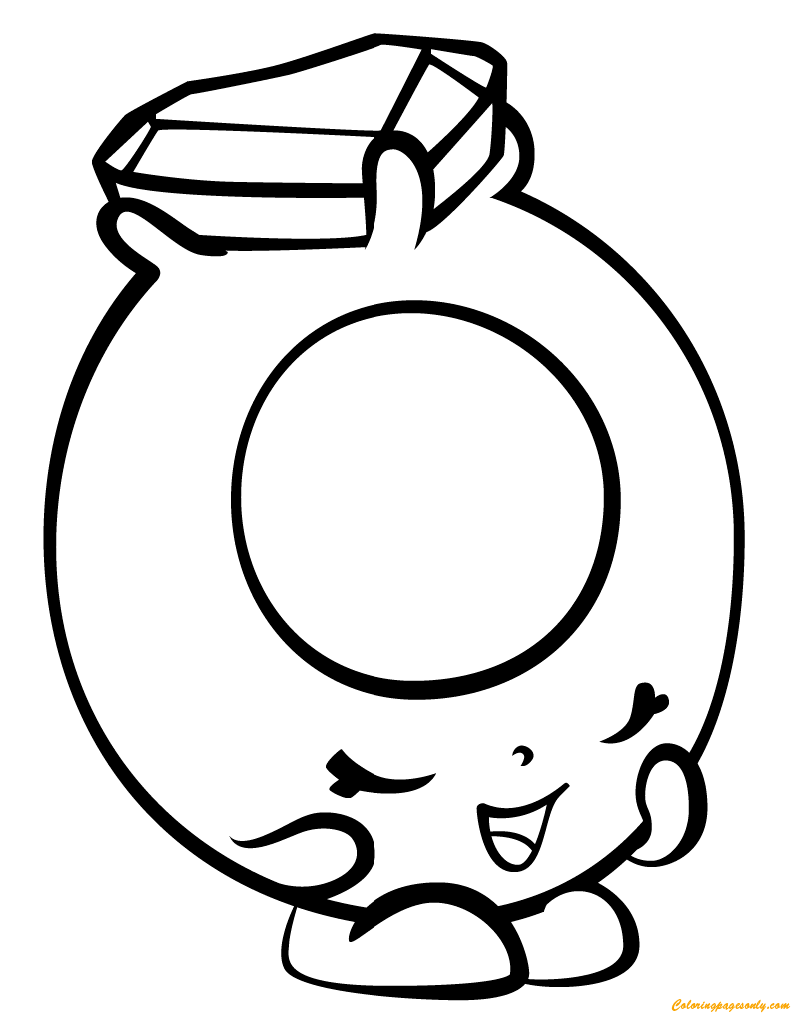 Ring A Rosie Shopkin Season 3 Coloring Page